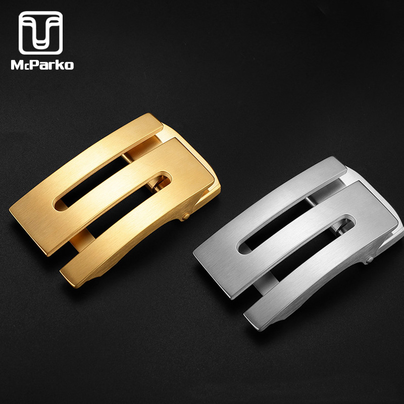 McParko Stainless Steel Belt Buckle Automatic Belt Buckle With Letters For Men Accessories Belt Buckle 35mm S G Z Style Design