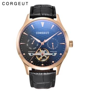 44mm Corgeut Men's Fashion Watch Multifunction Automatic Mechanical Watch Business Mechanical Watch