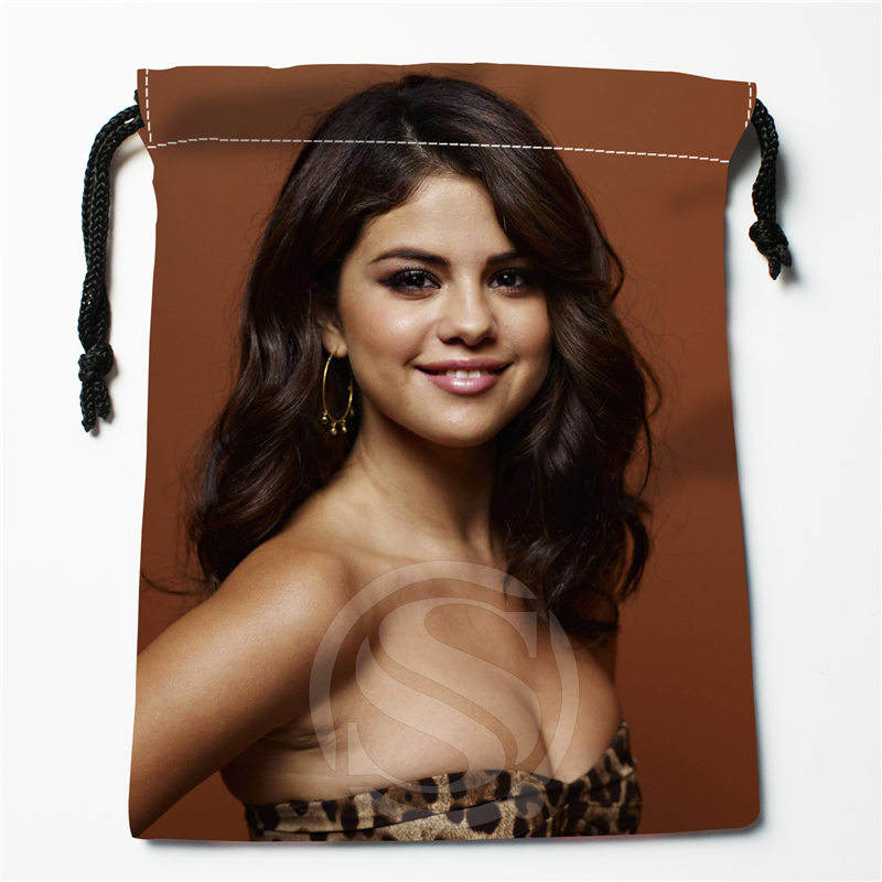 Fl-Q174 New Selena Gomez -#7 Custom Printed  Receive Bag  Bag Compression Type Drawstring Bags Size 18X22cm 711-#Fl174