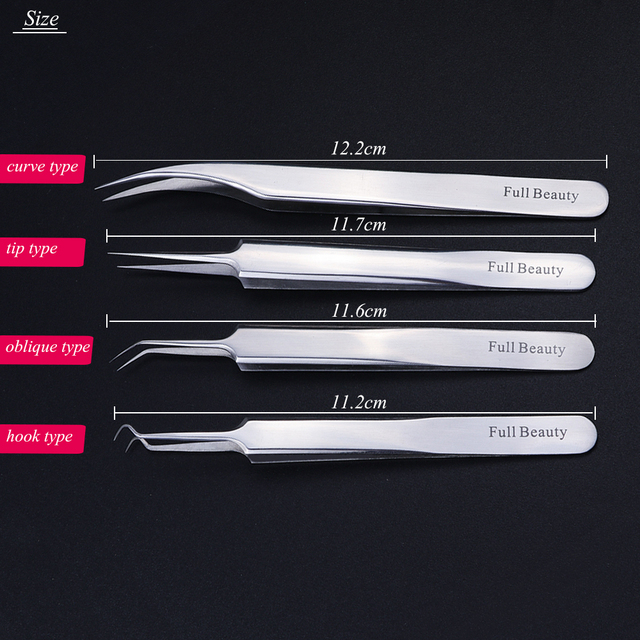 1pc Stainless Steel Blackhead Tweezers Eyelash Extension Curved Acne Clip Removal Eyebrow Tweezer Face Care Tools CHFBNC01-04 3