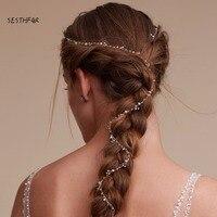 Wedding Crystal Pearl Headbands Summer Hot Hairband Bridal Hair Accessories Crystal Bouquet Collection Handmade