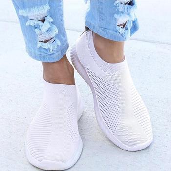 Kobiety płaskie klapki espadryle buty kobieta Super lekkie białe trampki letnia jesień mokasyny Chaussures Femme kosz mieszkania buty tanie i dobre opinie HAJINK Podstawowe Elastycznej tkaniny RUBBER Slip-on Pasuje prawda na wymiar weź swój normalny rozmiar Na co dzień latex