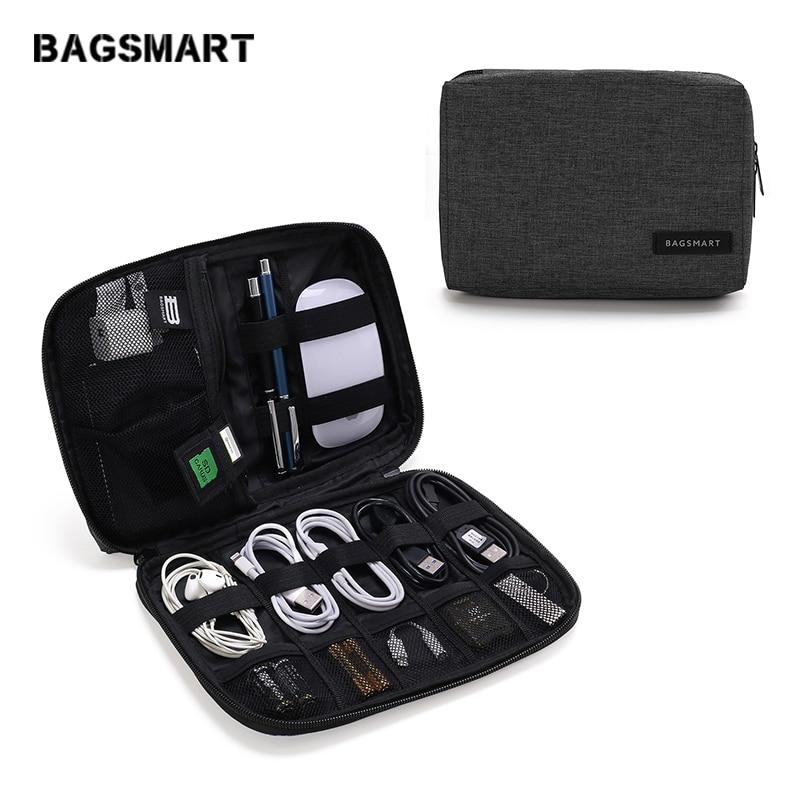 BAGSMART Électronique Accessoires organisateurs d'emballage pour Écouteurs USB SD Carte Chargeur câble de données nouveau jouet Pack Valise Cas