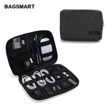 BAGSMART Electronic Accessories Packing Organizers for Earphone USB SD Card Charger Data Cable Travel Bag Pack Suitcase Case(China)