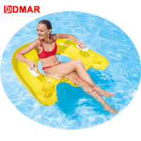 DMAR 152cm Inflatable Floating Chair For Adults Giant Pool Float Toys Swimming Rings Pool Seats Air Mattress Random Color