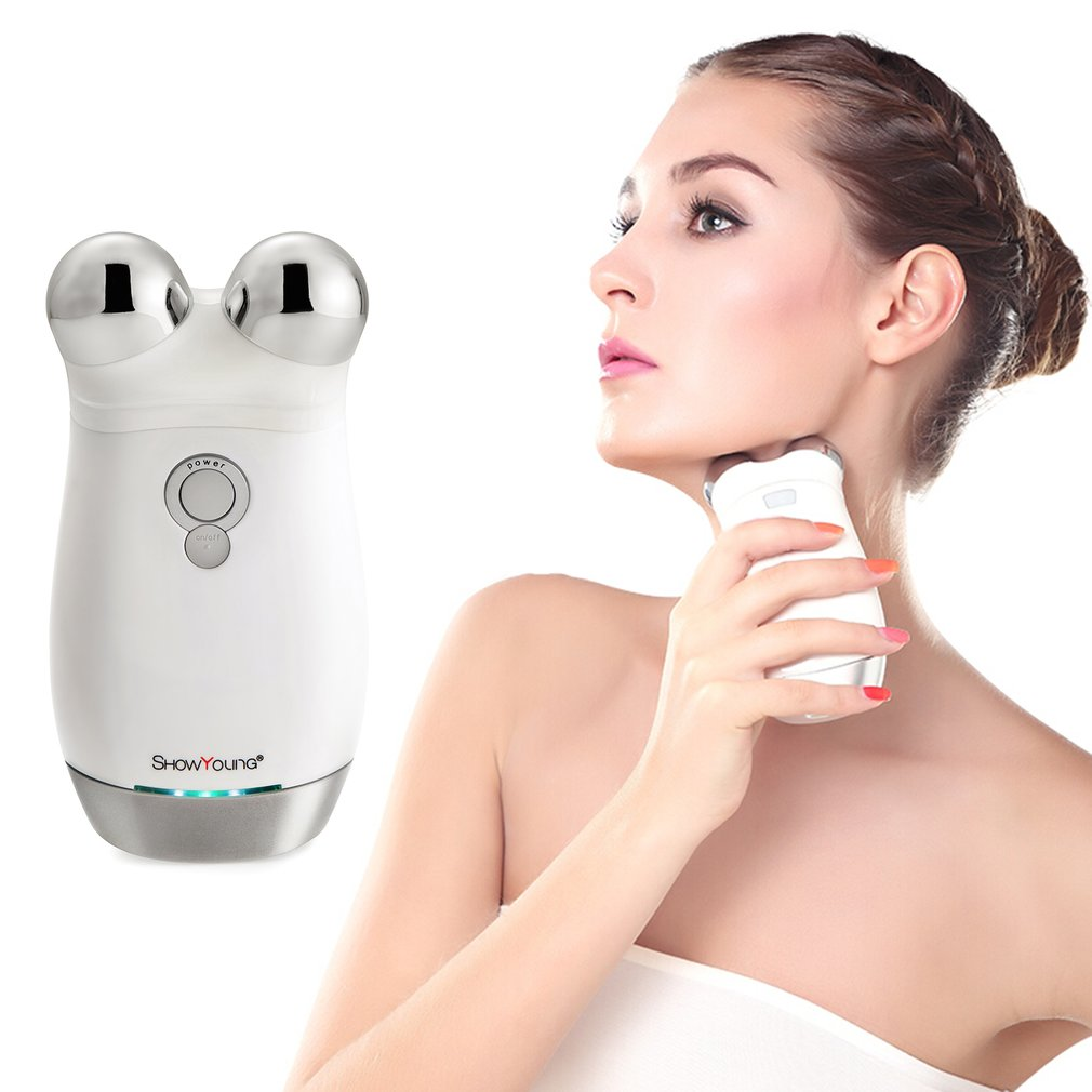 Microcurrent Skin Lifting Firming Machine Eye Face Massager USB Rechargeable Electric Face Slimming Device Dark Circles Remover