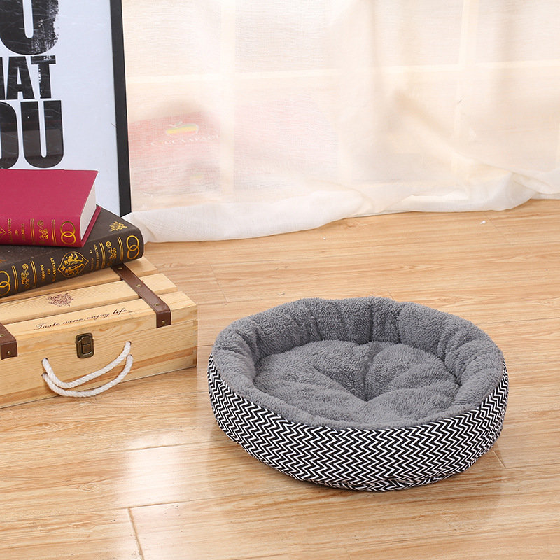 Warm Pet Beds for Comfortable Sleeping of Puppies and Kitten Suitable for Winter Made of PP Cotton 2