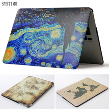 SYSTIMO Hard Painting Map Laptop Case for Apple Macbook Air Pro Retina 11 12 13 15 for New Mac book Air 13 with Touch Bar A1932