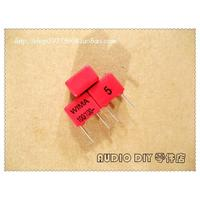 Free Shipping Copper Foot Red FKP2 100pF 100V 5 Foil Film Capacitors 0 1nF 101 Original