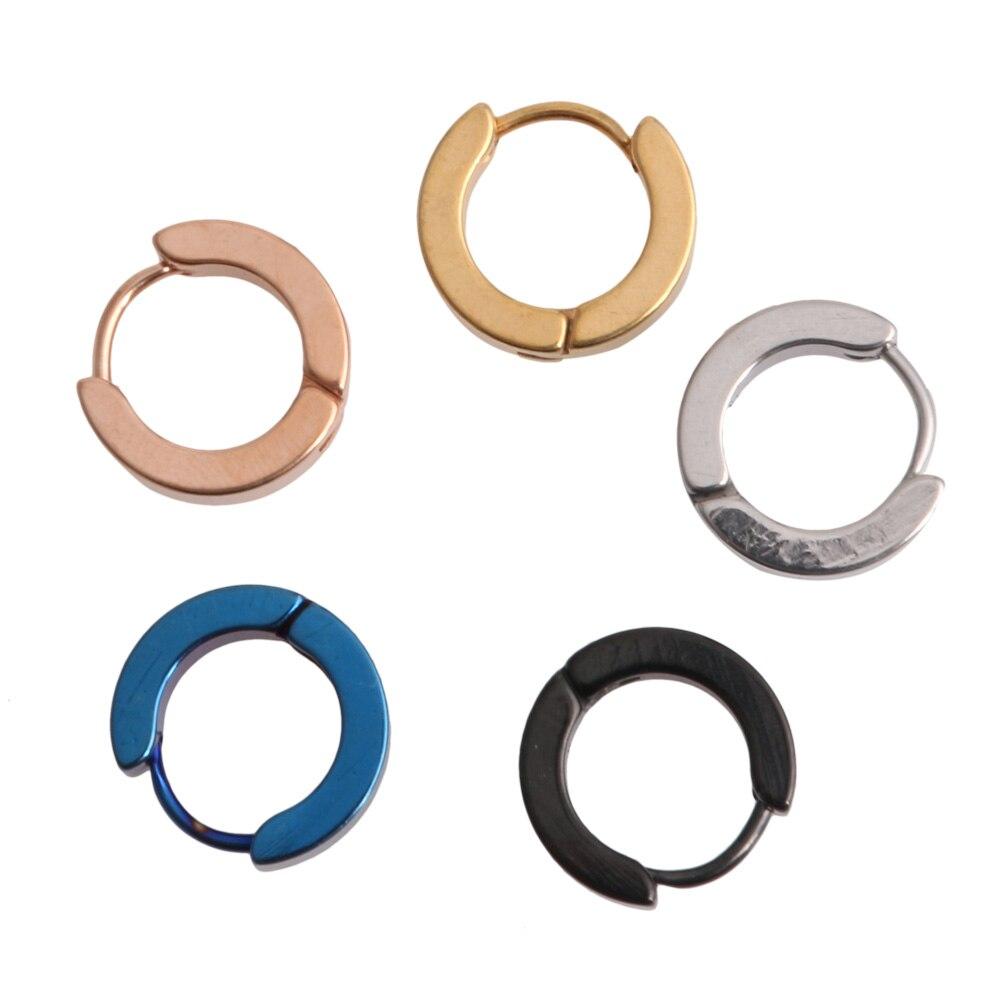 1 pc Titanium Steel Ear Clip On Ear Earrings Studs for Man