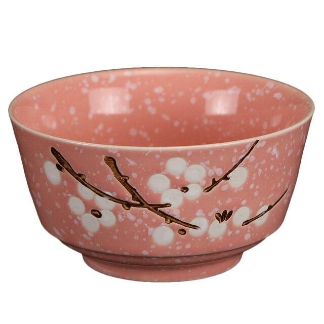 Giapponese Dipinto A Mano Fiocco Di Neve Ciotola In Ceramica 4 5