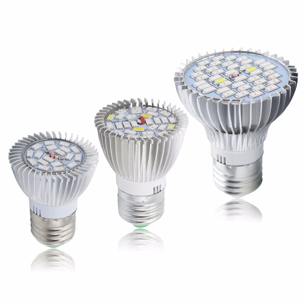 High Power 5730SMD LED E27 GU10 E14 18W / 28W / 35W Full Spectrum LED Grow Light For Plants Vegetables Hydroponics AC85-265V
