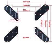 "VESA200 to 400X400 10-55"" lcd tv mount adaptor monitor support extension pad tablet bracketv clamp Adaptor"