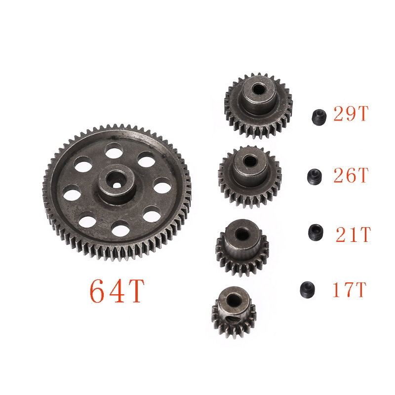 Steel Main Gear HSP <font><b>RC</b></font> 1/10 11176&11184 Differential Steel Main Gear 17-64T <font><b>Motor</b></font> Gears Parts for Gear 64T/ 26T/ 21T/ 17T Parts image