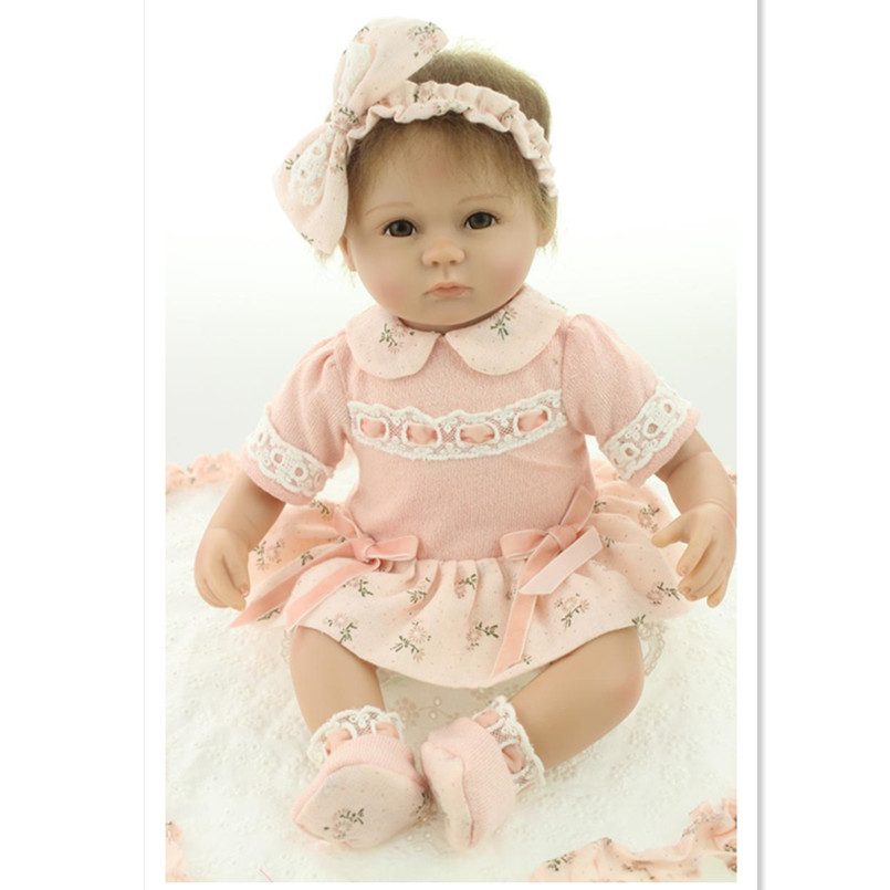 Fashion Dolls Silicone Reborn Baby Doll Toys for Girls,15 Inch Realistic Reborn Doll Baby Toys Childrens Birthday GiftFashion Dolls Silicone Reborn Baby Doll Toys for Girls,15 Inch Realistic Reborn Doll Baby Toys Childrens Birthday Gift