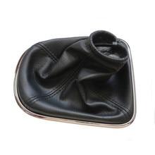 Автомобильный стиль ручки переключения передач Gaitor черные кожаные сапоги с хромированной рамкой для CHEVROLET CRUZE 2008-2012 авто аксессуары
