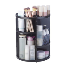 1PC Transparent Cosmetic Display Box DIY 360 Degre Rotatable Acrylic Storage Atmospheric Beauty Organizer