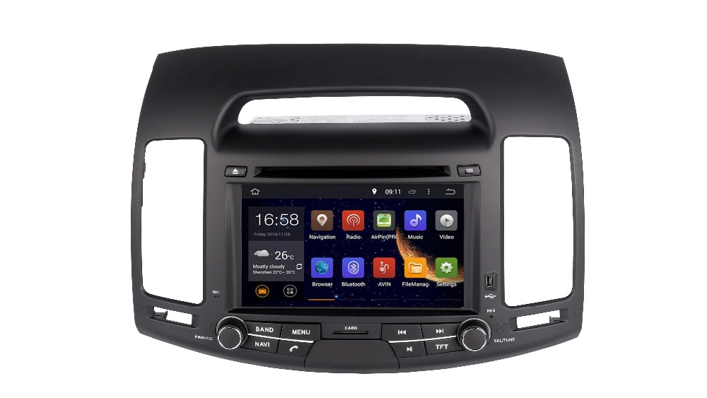 2DIN 7INCH Android OCTA / Quad Core Fit HYUNDAI ELANTRA 2007 2008-2010 2011 Avtomobilski DVD predvajalnik Multimedia GPS DVD NAVI HEAD UNIT MAPS