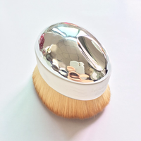 2 PCS Large Size Loose Powder Makeup Brush Short Metal Handle Goat Hair Comestic Brush Portable