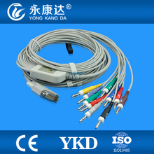 Nihon Kohden 10 lead EKG cable, compatible with Cardiofac 6353 ekg machine,AHA,Banana 4.0