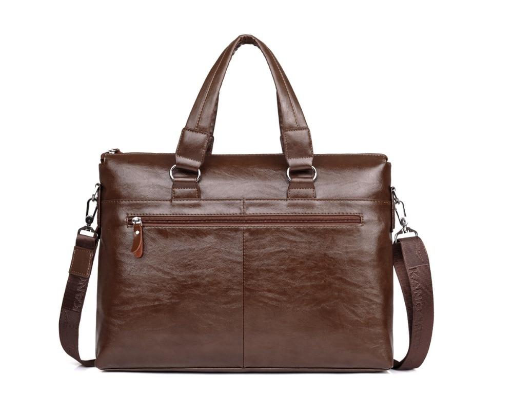 ZYJ Men\`s Business Leather Shoulder Laptop Briefcase Bags Sling Travel Messenger Portfolio Bag Causal Bolsa Lawer Handbag (8)