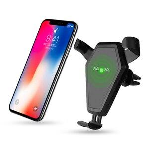 Автомобильный держатель для телефона Coofun, беспроводное зарядное устройство Qi 10 Вт для Iphone 11 8 7 6, подставка для смартфона Samsung Xiaomi, мобильный ...