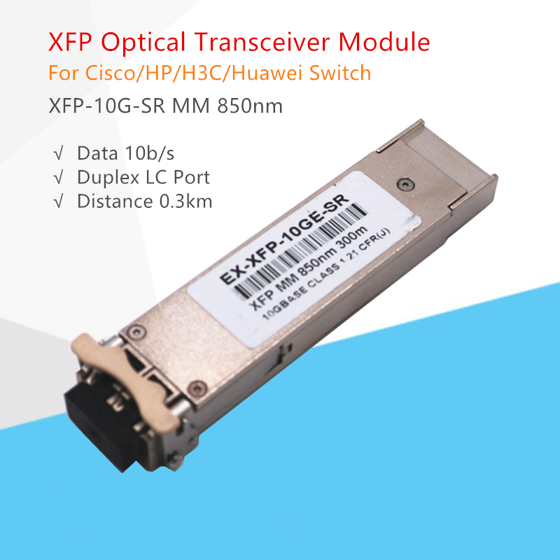 XFP 10G Optical Transceiver Module XFP-10G-MM-SR XFP 850nm 300m DDM Fiber Optical Module Compatible for ubiquiti/mikrotik/zyxelXFP 10G Optical Transceiver Module XFP-10G-MM-SR XFP 850nm 300m DDM Fiber Optical Module Compatible for ubiquiti/mikrotik/zyxel