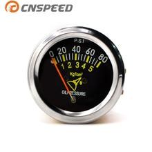 CNSPEED 52mm 2 inch mechanical car 0-80 PSI oil pressure gauge automobile sensor sensor