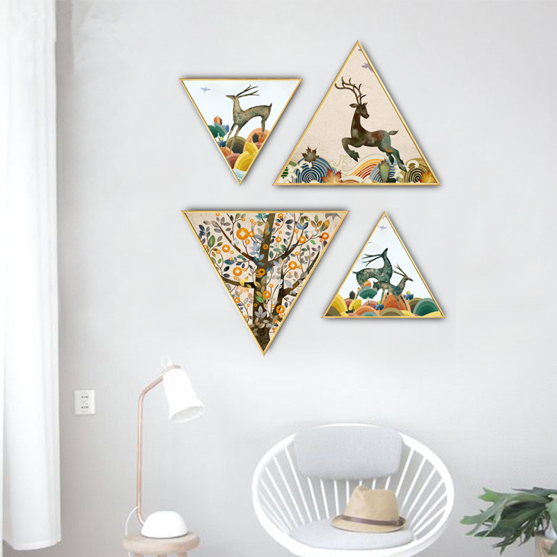 Nordic cartoon style restaurant decoration painting childlike painting home mural kitchen painting mural Hanging painting in Painting Calligraphy from Home Garden