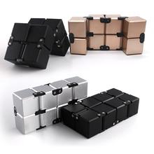 Бесконечность куб антистресс включает в себя металл высокое качество EDC креативный антистрессовый куб игрушка, Спиннер взрослые, страдающие СДВГ Oyuncak