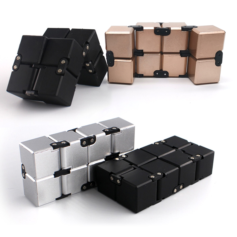 Original Infinity Cube Antistress Include Metal High Quality EDC Creative Antistress Cube Toy Hand Spinner Adult ADHD Oyuncak(China)