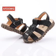 Beach kids new fashion black boys and girls Baotou leisure sports golden beach shoes children sandals sand