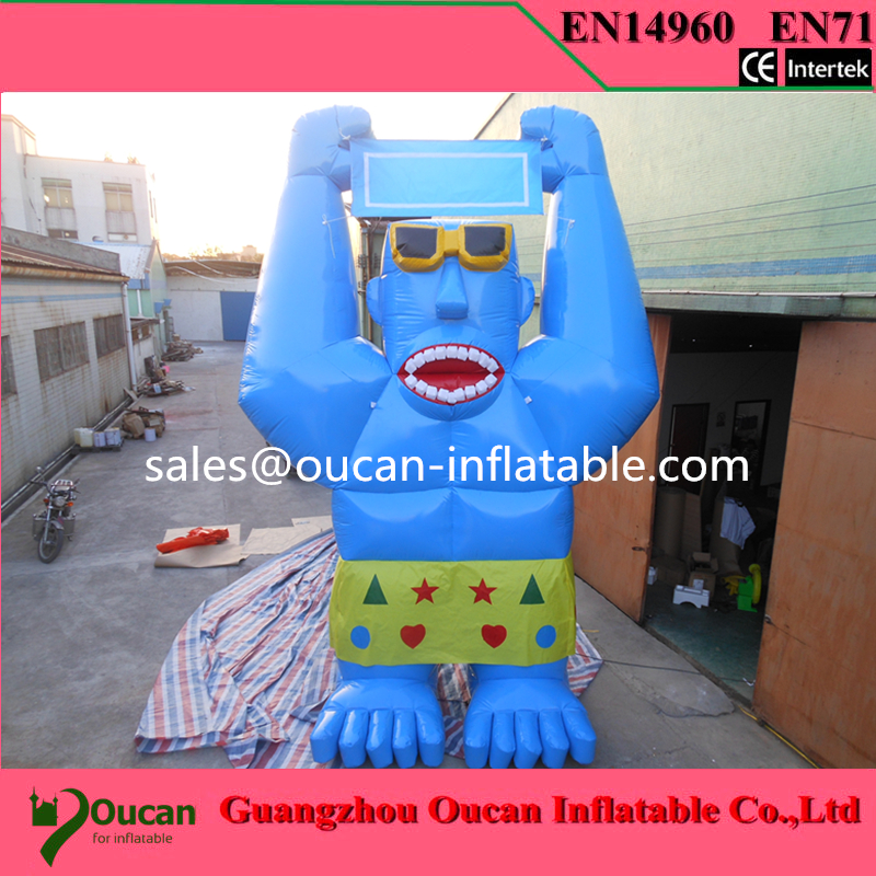 Free shipping 6m inflatable advertising cattle / cartoon cow with air blower