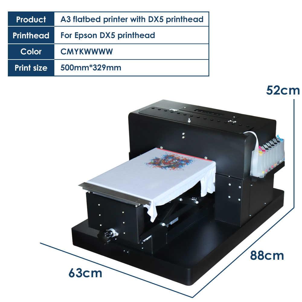 70d7890da ... Colorsun 8 color A3 flatbed printer Digital Textile Printer T-shirt  Printing Machine DTG Printers ...