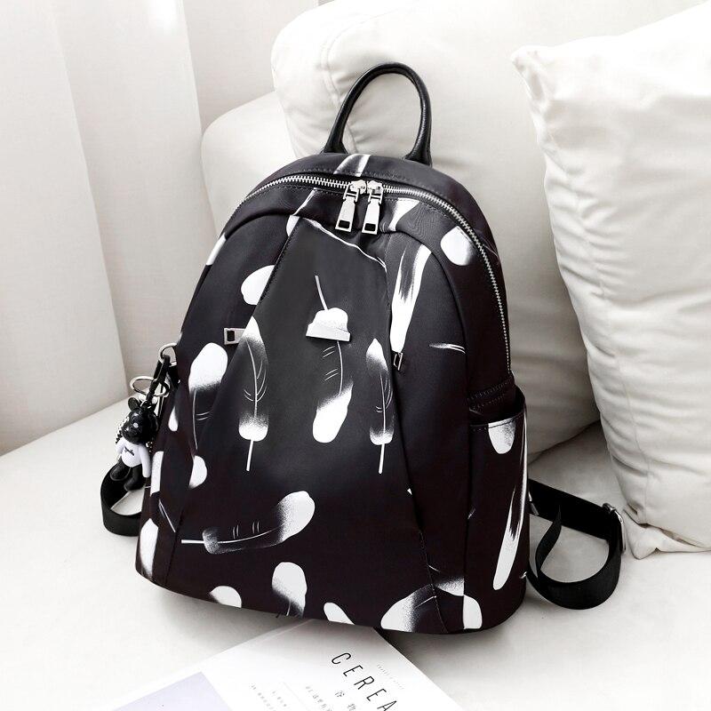 Oxford tissu mode sac à dos impression Zipper sac d'école femmes toile sacs à dos étudiant Bookbag dames sacs à provisions sac à dos