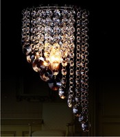 Europe Style Crystal Wall Sconce Bedroom Lighting Fixture E14 Ceiling Light Home Decoration Stainless Steel Wall