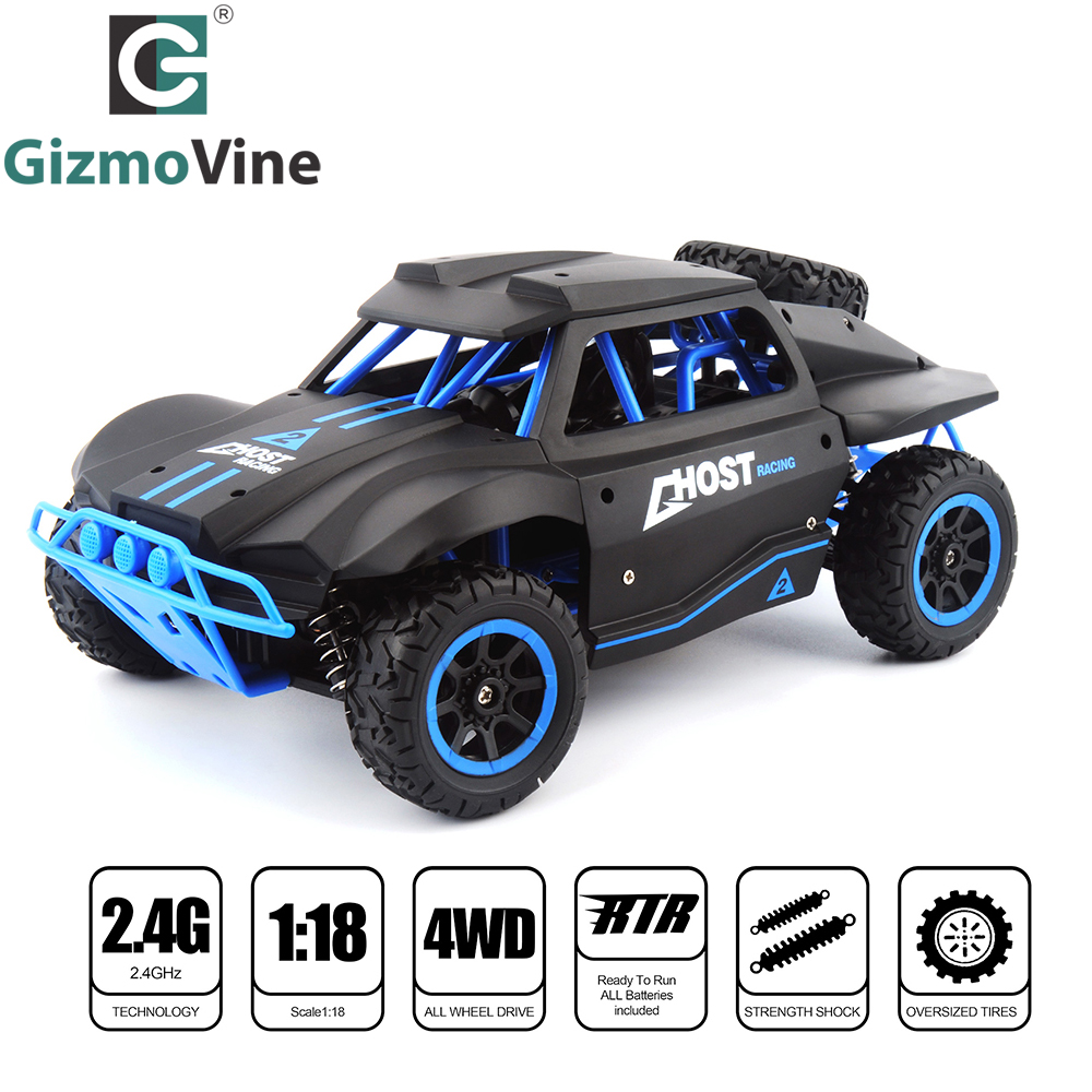 GizmoVine RC Car 2.4G Radio Remote Control Car 1/18 scale Short Course Truck 25KM/H High Speed RC Toys 4WD Off- Road Vehicle