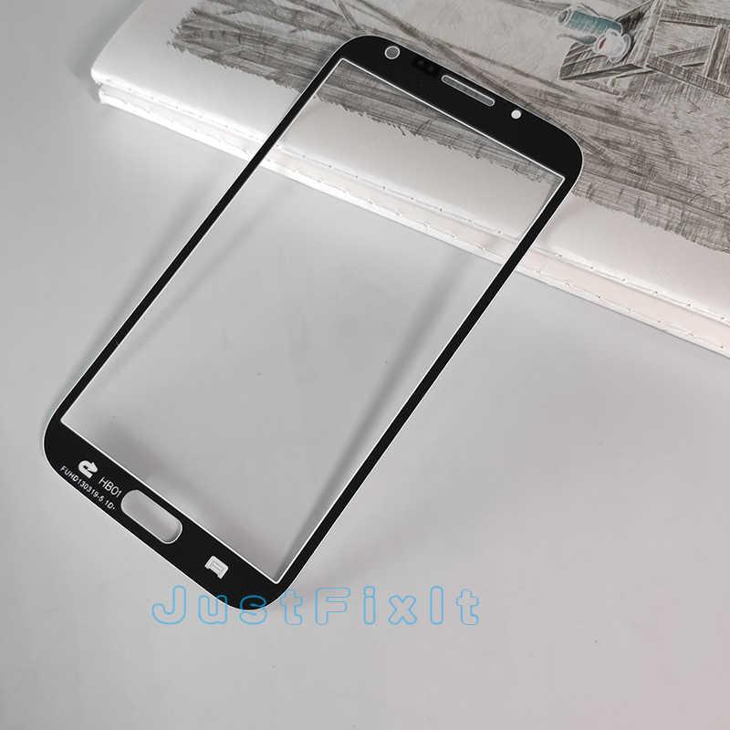 Para samsung galaxy note 2 n7100 GT-N7100 n7105 display lcd painel da tela de toque frontal lente vidro peças