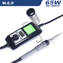 WEP 908D-II 65 W Portable LED Digitial Thermostat Soldering Iron Digital Temperature Correction Sleep Protection