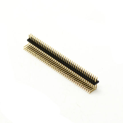 5pcs Pitch 1.27mm 100 Pin 2x50Pin Right Angle Double Row Male Breakable Pin Header Connector