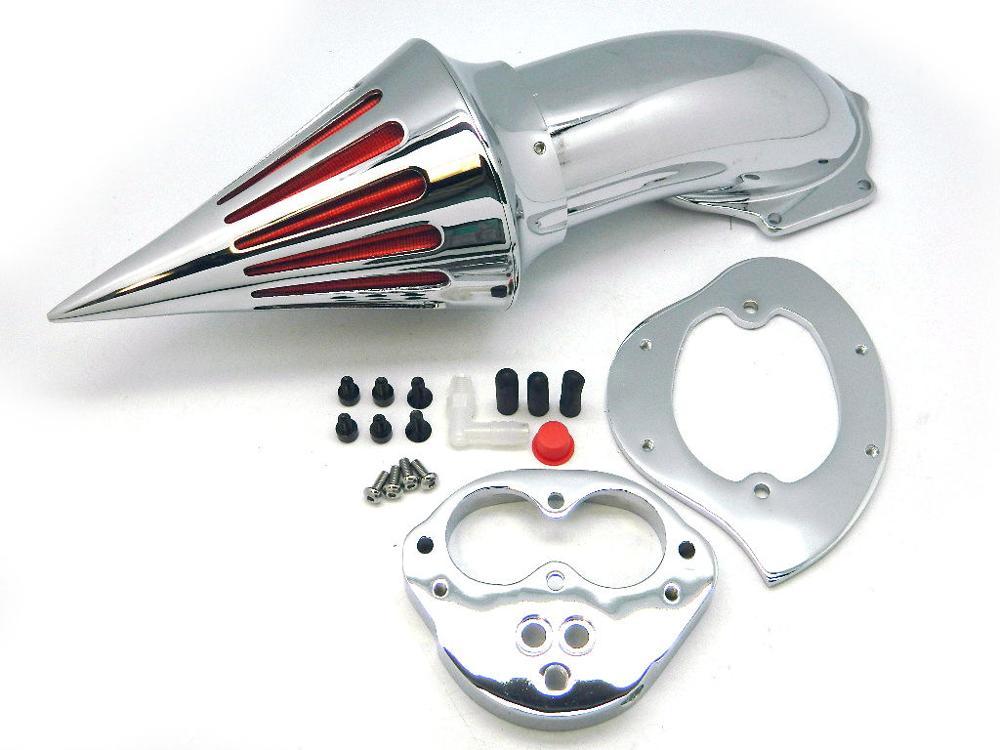 For Kawasaki Vulcan 1500 1600 Vulcan1500 Vulcan1600 Classic 2000-2017 07 Motorcycle Chrome Spike Air Cleaner Kits Intake Filter aftermarket motorcycle parts chrome spike air cleaner for yamaha road star 1600 xv1600a 1700 xv1700 1999 2012