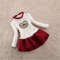 BibiCola Bébé Filles Robe Enfants De Noël Tenues En Forme de Coeur Épaississent Hiver Chaud Habineige Robe Enfants Basant Vêtements Costume