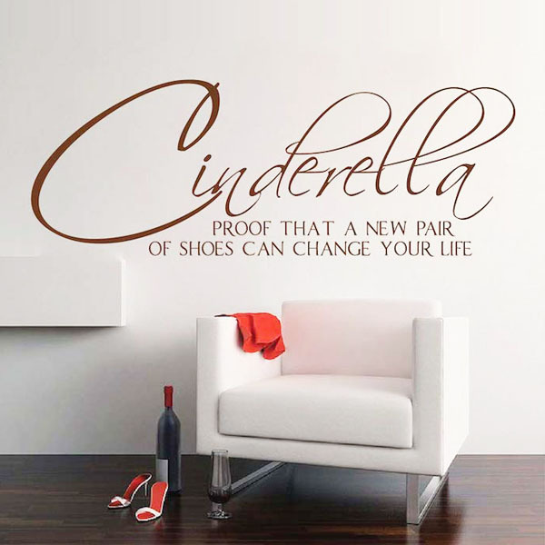 Cinderella new shoes Wall Sticker Wall Quote  Wall Decals /& Stickers