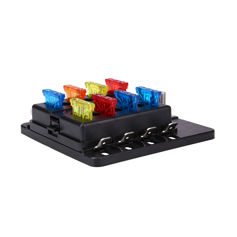 hight resolution of vehemo fuse box 8way led indicator light fuse indicator safety pc wiring terminal