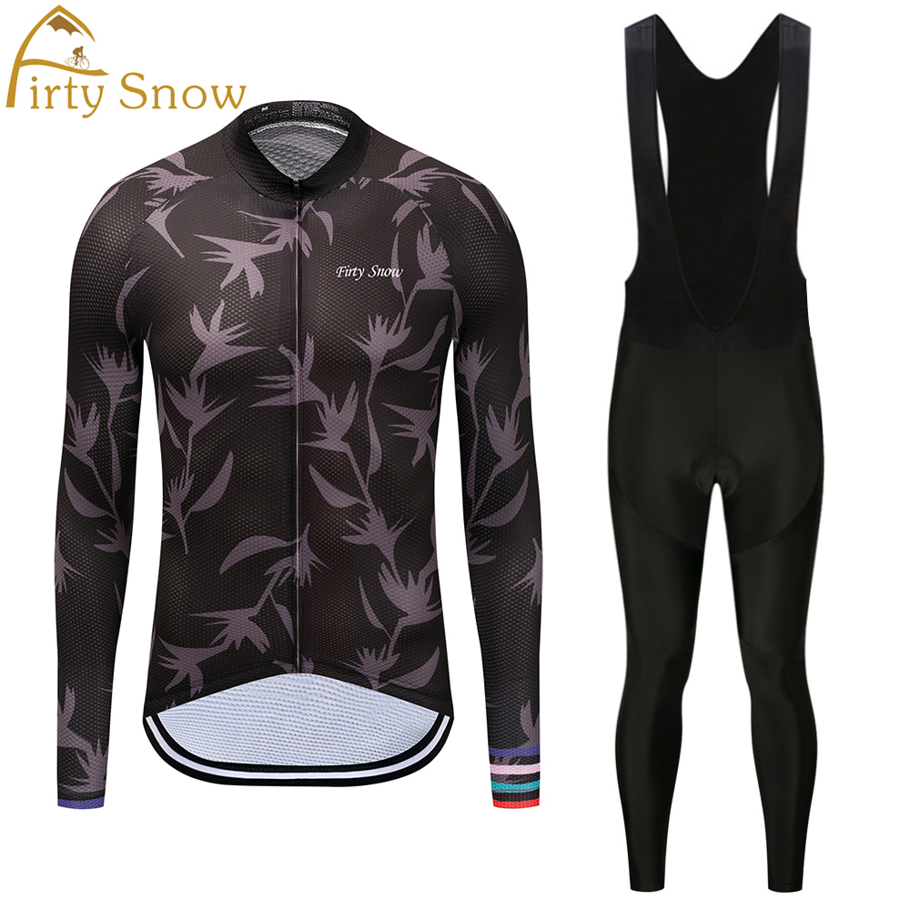 Ropa Maillot Ciclismo New Breathable Long Sleeves Riding Wear Set Men`s Spring/Autumn Team Cycling Jersey Bicycle Clothing