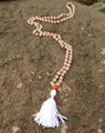 ST0199 108 Mala Bead Necklace Women Rose Quartz Knotted Necklace yoga tassel necklace with magnetic clasp New Fancy Rosary