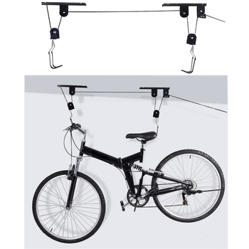 Roof Bike Hanger Set Wall Mounted Bicycle Storage Rack Hanging Cycling Holder