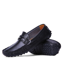 Free shipping 2016 new Fashion Men casual shoes Genuine Leather Business casual For Boys Students Hole shoes Flats Loafers