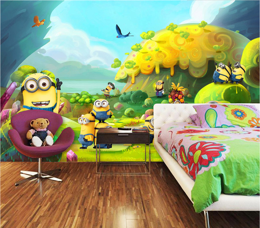 Childrens bedroom wall murals for Children mural wallpaper