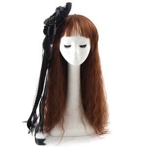 Image 2 - Noir Mini haut chapeau pince à cheveux mignon gothique Lolita filles Rose coiffe de tête cheveux accessoires carnaval fête de mariage carnaval